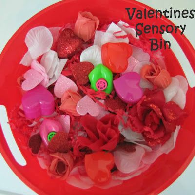 Appeal to the senses and have fun exploring with this Valentines Sensory Bin