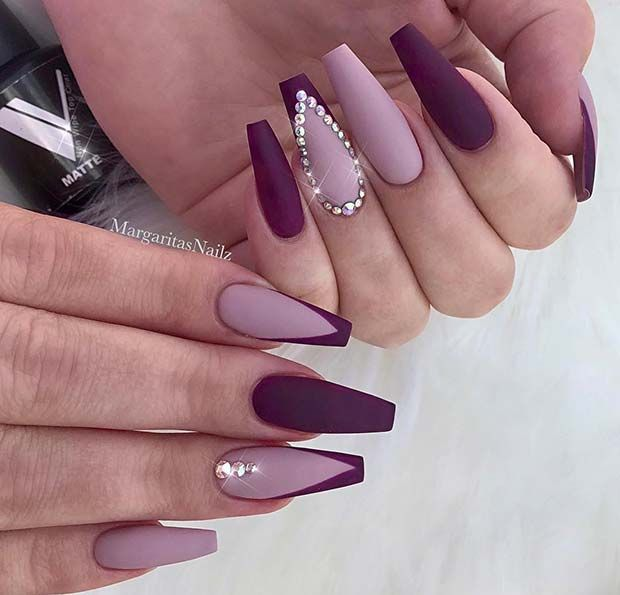 41 Elegant Nail Designs with Rhinestones | Page 4