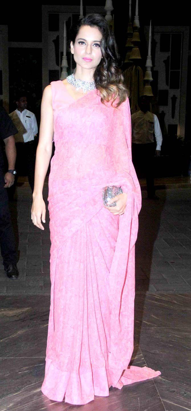 Kangana Ranaut at Shahid Kapoor and Mira Rajput\'s wedding reception ...