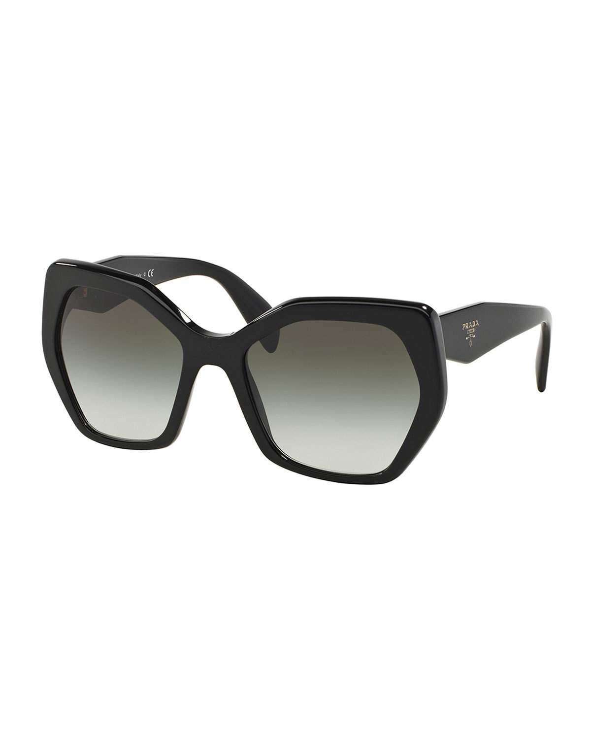 5f84bb5532 Heritage Angled Butterfly Sunglasses. Prada Heritage Angled Butterfly Sunglasses  Oversized ...