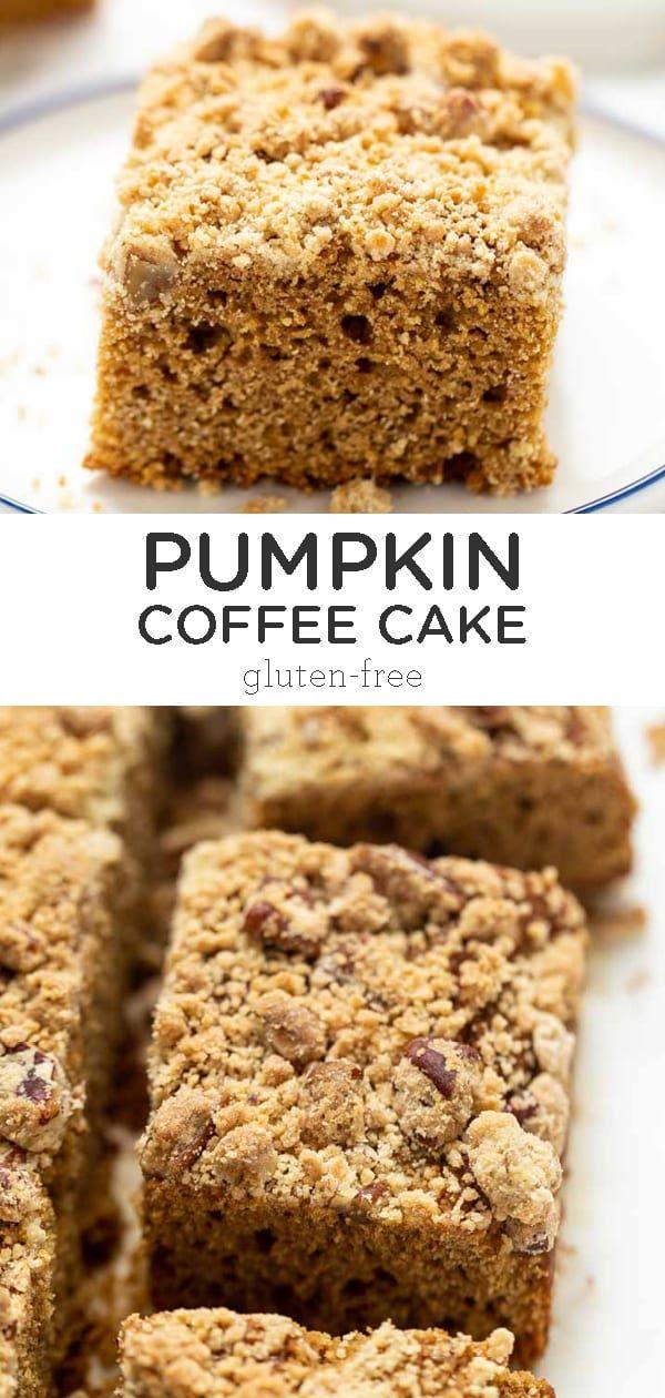 GlutenFree Pumpkin Coffee Cake Recipe Pumpkin coffee