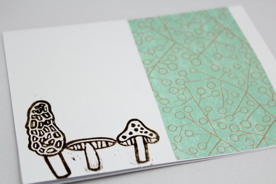 Set of eight hand stamped cards mushrooms hand stamped cards set of eight hand stamped cards mushrooms by thenotionsbox m4hsunfo