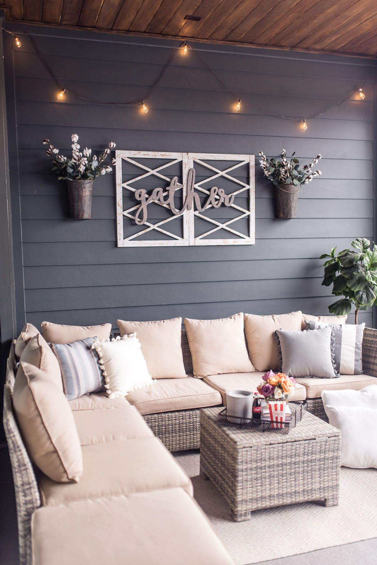 Outdoor terrace inspo as seen on the styled fox  houston fashion blog also diy movie night plus bloggers home decor trends rh pinterest