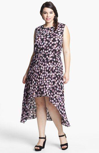 5075809a80231 BB Dakota  Albany  Print High Low Dress (Plus Size)