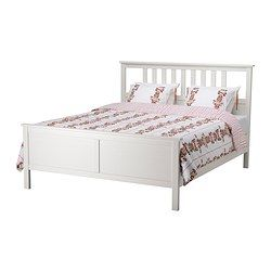 hemnes bed frame white stain kids rooms pinterest schlafzimmer bett und schlafzimmer ideen. Black Bedroom Furniture Sets. Home Design Ideas