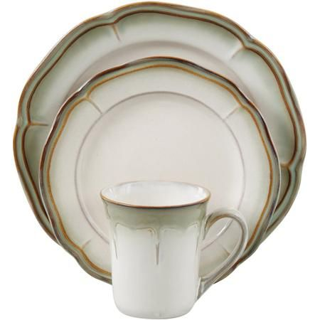 Better Homes and Gardens Simply Fluted 16Piece Dinnerware Set