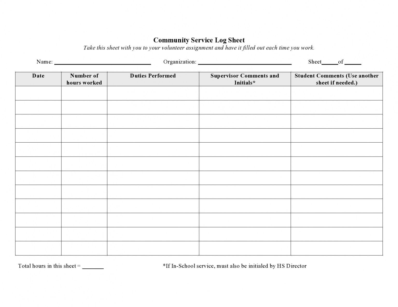 Log Sheet Template Spreadsheet Examples Free Daily Pdf With Regard To Community Service Template Wo Volunteer Hours Log Community Service Hours Volunteer Hours