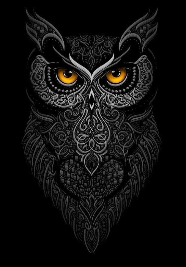 owl modern Arabic Calligraphy by eje Studio