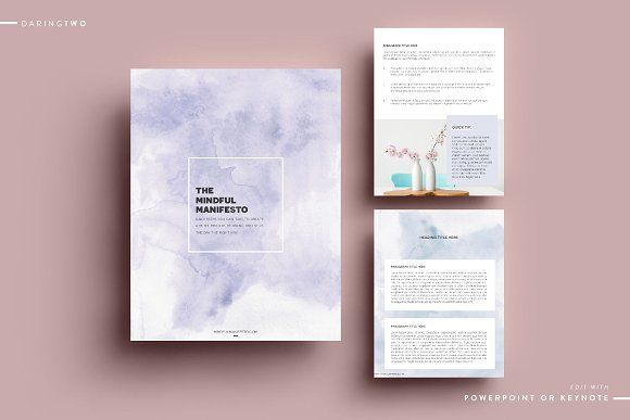 M2 Ebook Template Powerpoint Keynote | Pinterest | Keynote and Template