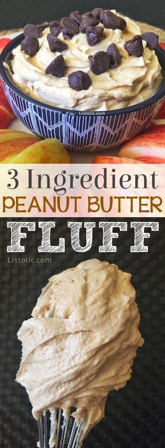 3 Ingredient Healthy Peanut Butter Fruit Dip (Protein Packed!)