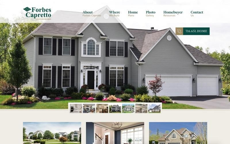 Portfolio Home Builder Websites Designs