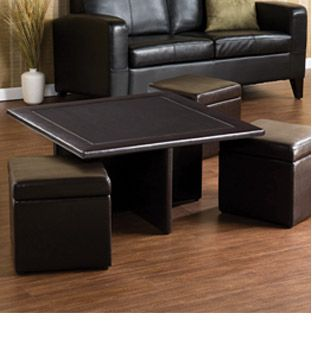 Coffee Table With Pull Out Storage Ottomans This Could Be Easy To Diy