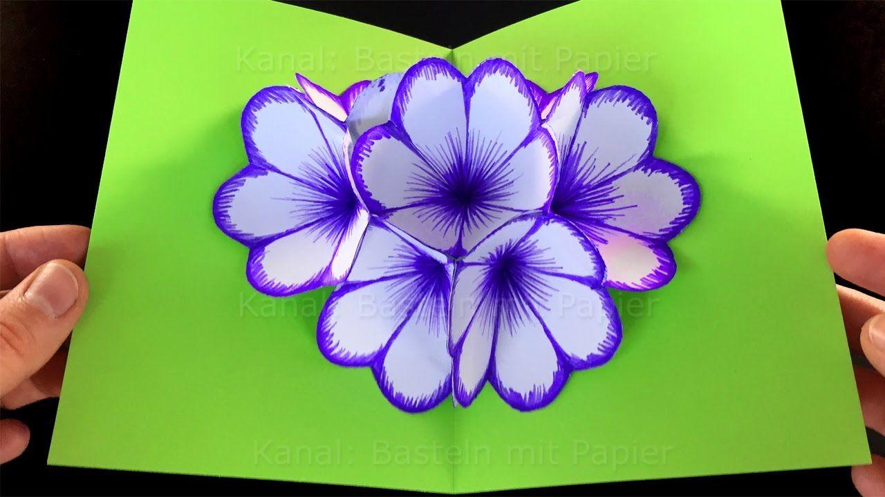 Tarjeta pop up flores en 3d diy regalos f ciles y r pidos - Regalos faciles y rapidos ...