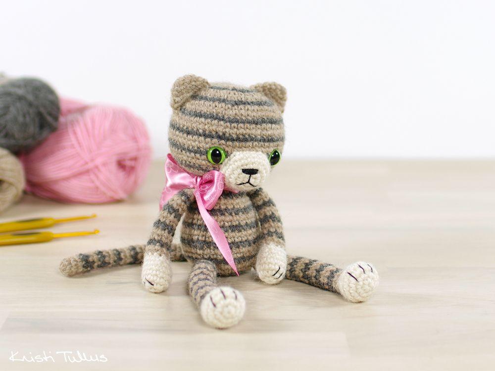 Amigurumis Gato Siames : Amigurumi cat crochet pattern toys gato