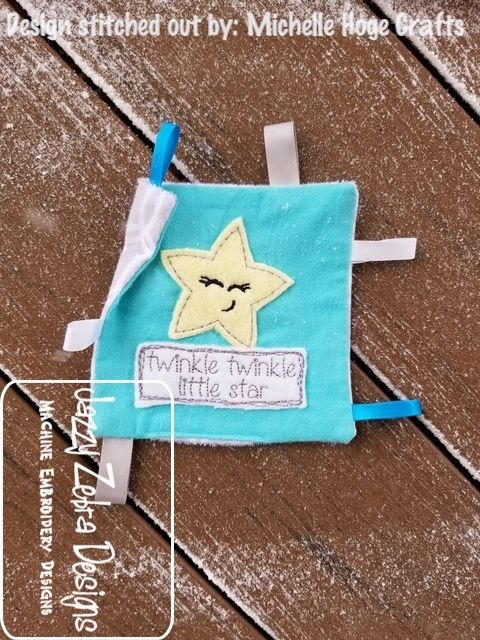 Twinkle Twinkle Little Star Shabby Chic Appliqu Embroidery Design