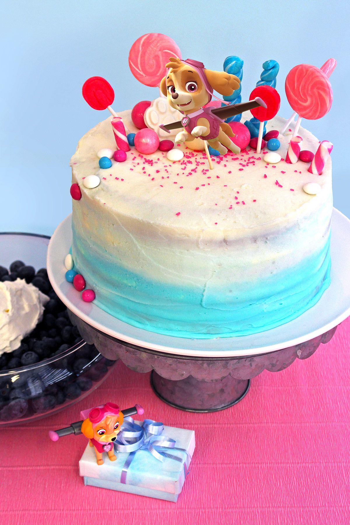 Paw Patrol Skye Birthday Cake Topper Patrulha Bolos De