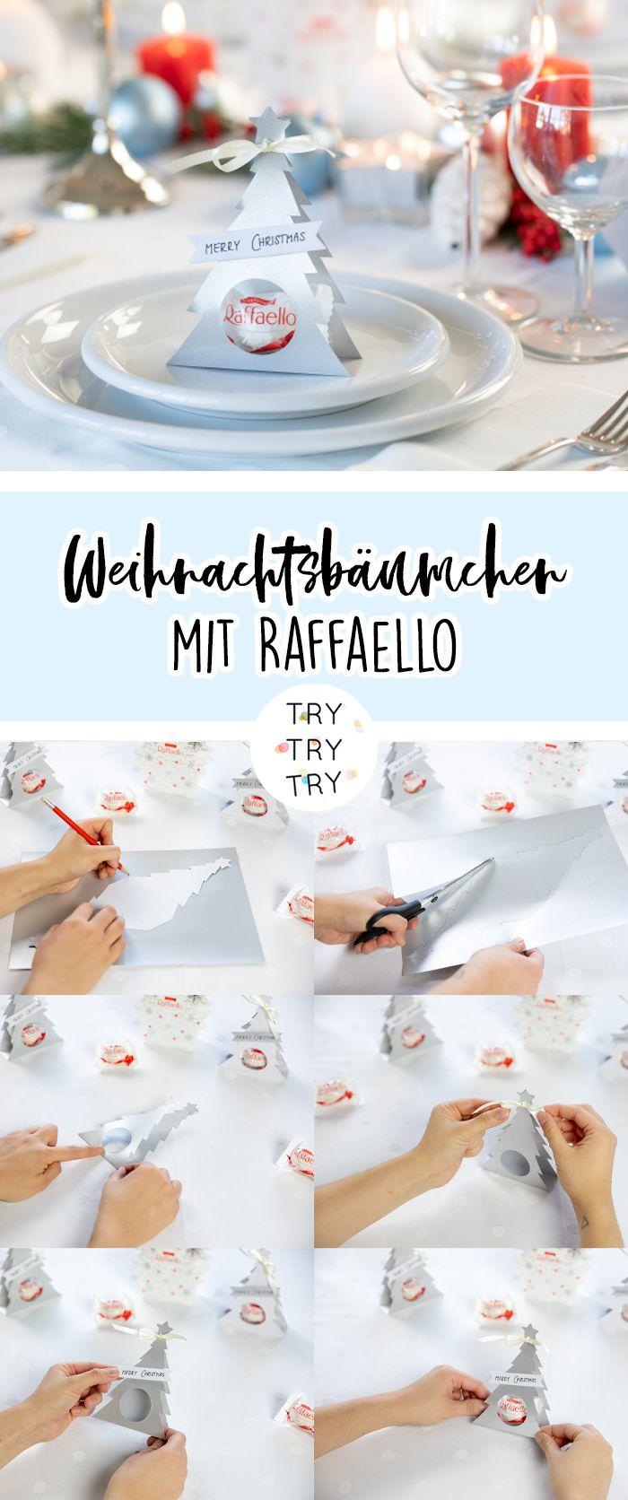 Edle Tischdeko und kleines Gastgeschenk mit Raffaello