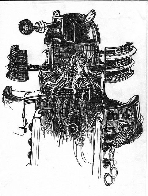 Excelent Dalek drawing.
