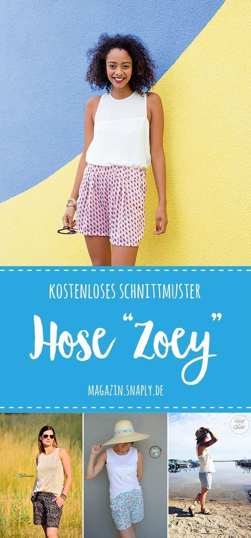 Damen-Shorts Zoey - kostenloses Schnittmuster & Nähanleitung | Snaply-Magazin #freebookschnittmuster