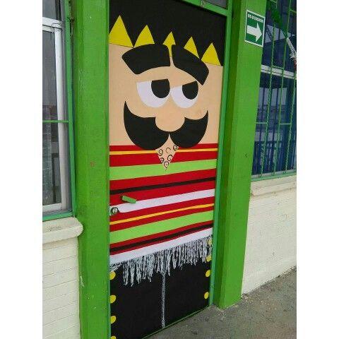 Viva m xico scool pinterest puertas decoradas for Puertas decoradas para el 16 de septiembre