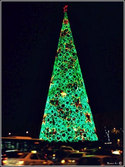 Giant Christmas Tree - Madrid, Spain - Giant Christmas Tree - Madrid, Spain Kewl Trees Pinterest