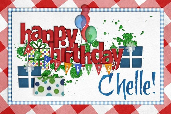 Sign the birthday card for Chelle and you might win $10 to her store!