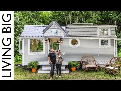 11 Couple Downsize Into Dream Off The Grid Tiny House Youtube