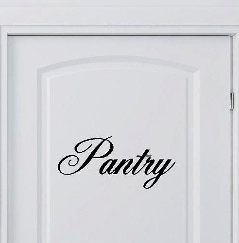 pantry vinyl lettering words kitchen wall quotes graphics home decor decal custom vinyl on kitchen decor quotes wall decals id=39523