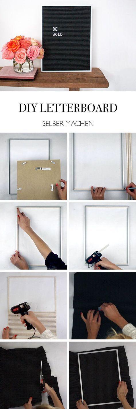 diy letterboard buchstaben tafel selber machen diy. Black Bedroom Furniture Sets. Home Design Ideas