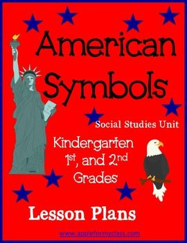 This American Symbols Unit is not typical in that it also includes recognized symbols that represent American culture. Included:- full one week lesson plans- Map concepts with National Mall- American Flag- Bald Eagle-Statue of Liberty- National Mall/Washington DC (white house, Lincoln, Jefferson      memorials, Washington Monument, cherry trees, US capital)- Cultural Symbols (apple pie, parades, 4th of July, baseball)                         Hands on activities, and More!
