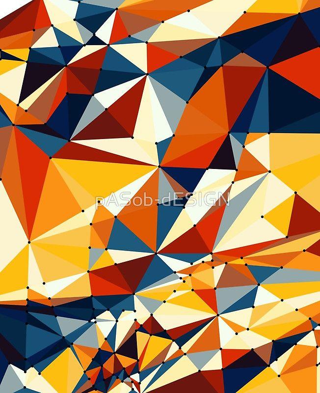 #Net of #multicolored #triangles #iPad-Hüllen & #Skins von #pASob-dESIGN #Redbubble http://www.redbubble.com/de/people/pasob-design/works/22075781-net-of-multicolored-triangles