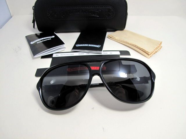 07759076e3c3 Valuable Chrome Hearts Hot Cooter Black Sunglasses New