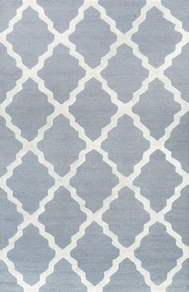 Rugs Usa Spa Blue Homespun Moroccan Trellis Rug Contemporary Rectangle 5 X 8