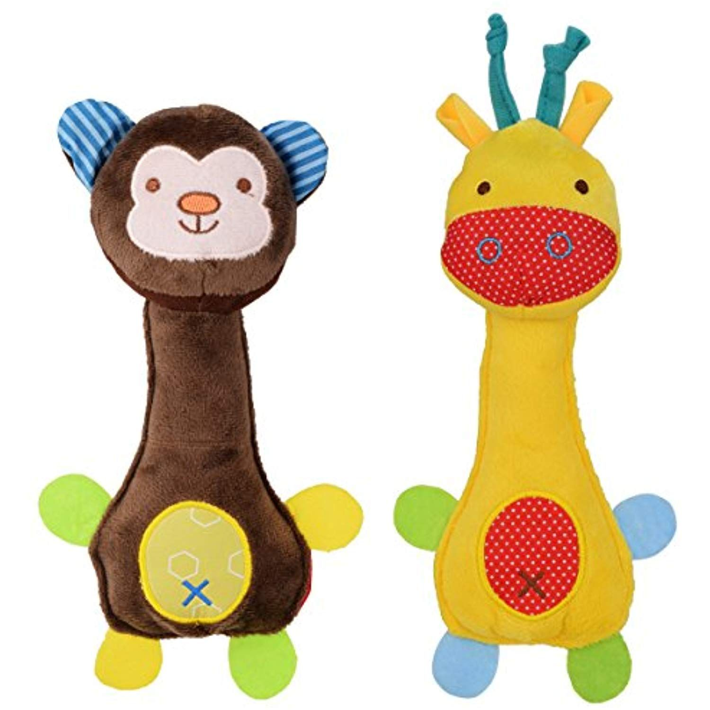 Wowowo Dog Plush Toys Squeaky Dog Toys Puppy Dog Chew Toys For