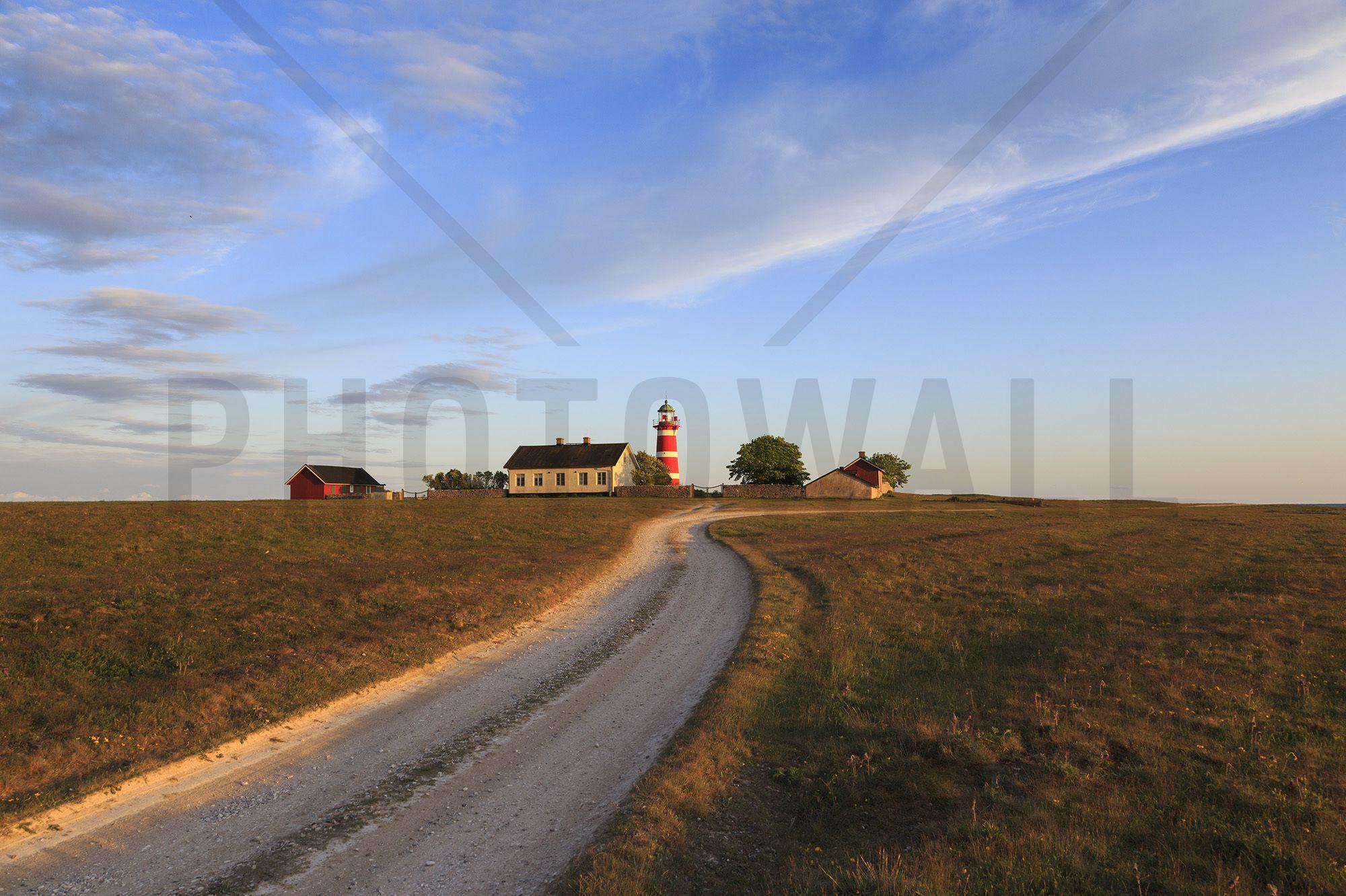 Countryroad to Lighthouse, Gotland - Fototapeten & Tapeten - Photowall