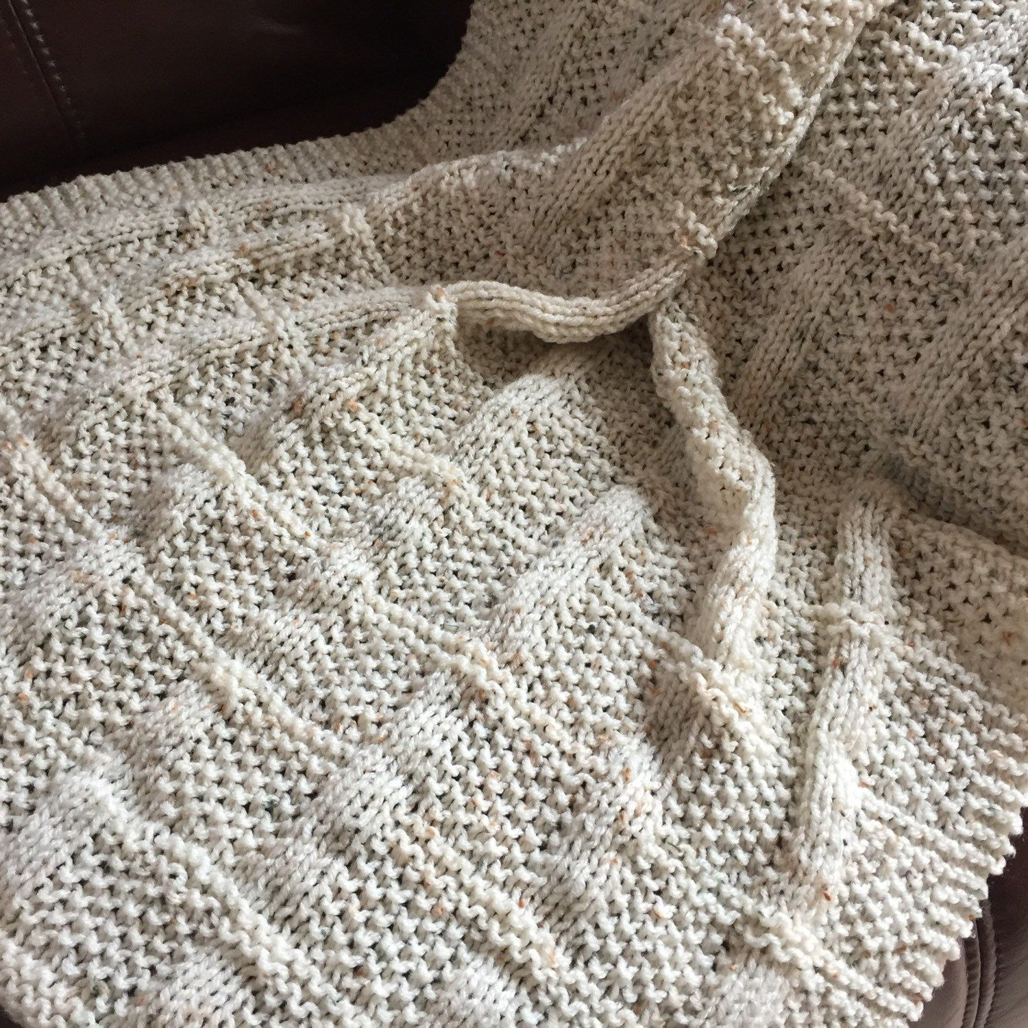 Lattice Baby Blanket ~Knitting pattern PDF | Simple knitting ...