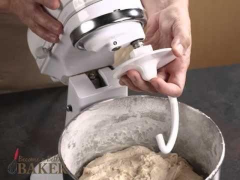 Kneading With A Dough Hook Kneading Dough Kitchen Aid Mixer