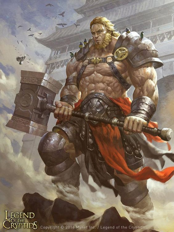 Half Orc Barbarian Maul