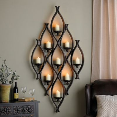 9-Pillar Candle Holder   Wall candle holders, Candle wall ... on Decorative Wall Sconces Candle Holders Centerpieces Ebay id=38232