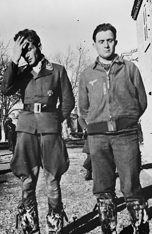 Two German soldiers were scolding from superiors.