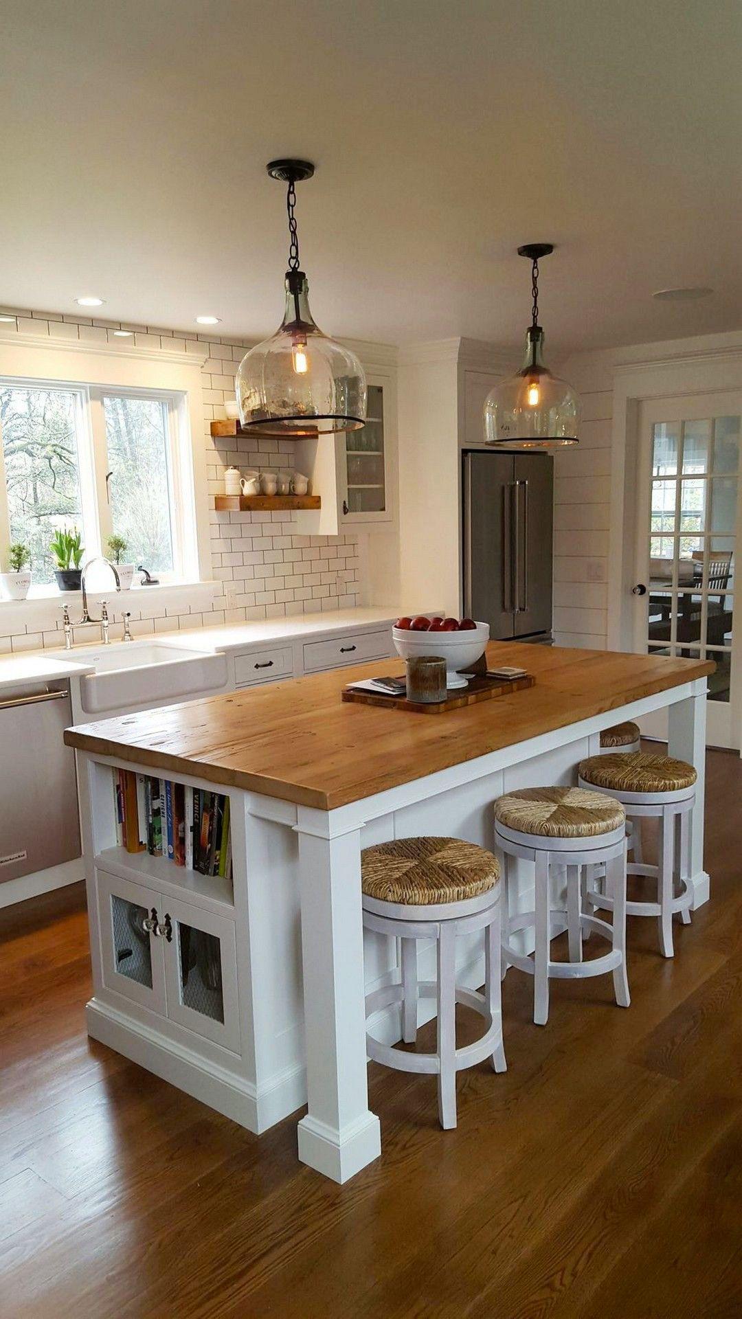 55 Best Kitchen Island Ideas By Rexgarden Farmhouse Kitchen Island Kitchen Island With Seating Modern Kitchen Design