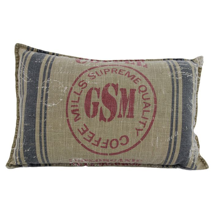 Pillow made from coffee bag