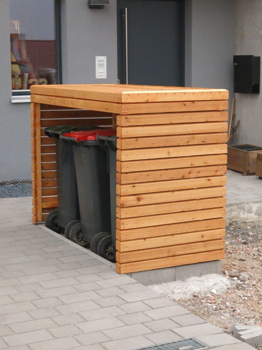 Wunderbar Mülltonnenbox Aus Paletten Bauen Foto Von Mülltonnenbox Fertig