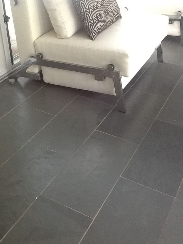 Grey Plank Slate Tile Floors I Want This In The Kitchen