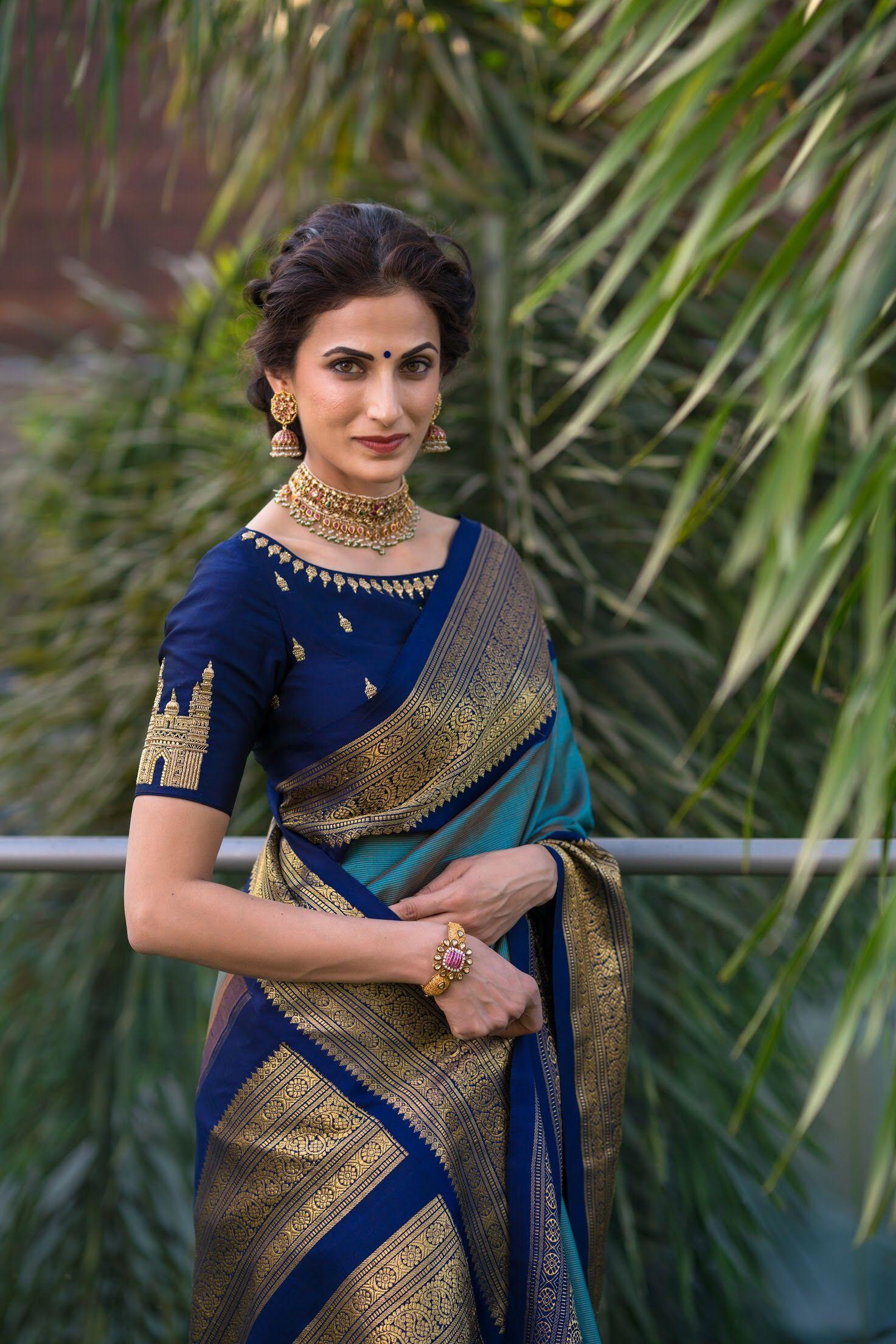 Design of saree blouse perfect blouse design being hyderabadi  style  pinterest  blouse