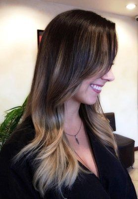 Highlight Just In End Hair Colored Highlights Long Hair
