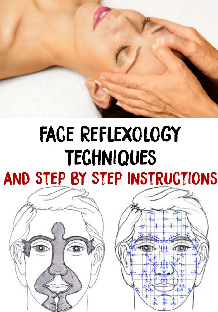Face Reflexology Techniques And Step By Step Instructions Reflexology Techniques Face Massage Techniques Facial Massage Techniques