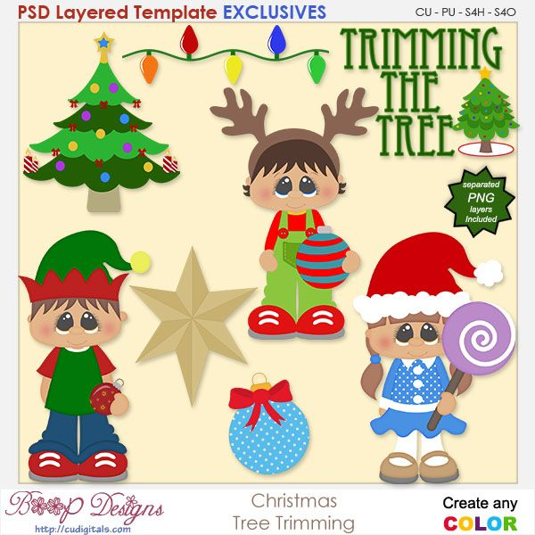 Christmas Tree Trimming Exclusive Templates Christmas Tree Trimming Paper Craft Projects Christmas Stickers