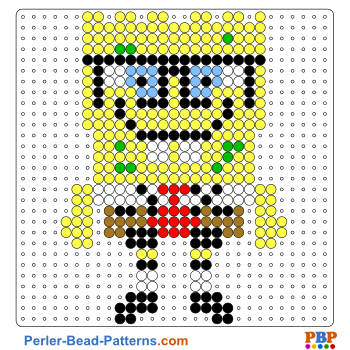 Spongebob Perler Bead Pattern Download A Great Collection Of Free Pdf Templates For Your Perler Beads At Perler Bead Patterns Perler Bead Art Diy Perler Beads