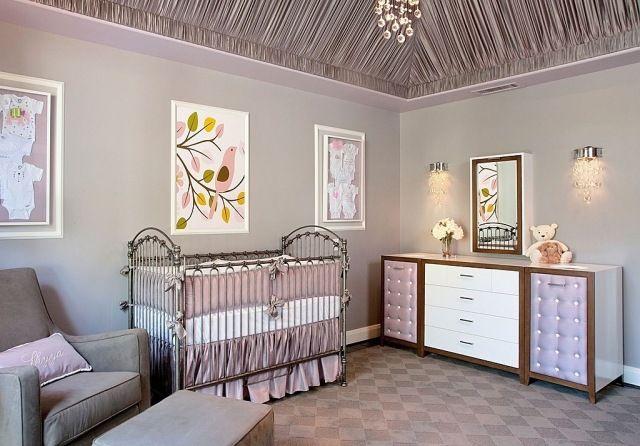 babyzimmer mädchen flieder farbe romantisches flair | baby ... | {Babyzimmer mädchen 35}